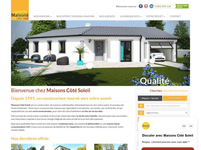 Maisons côté soleil, expert en construction de maison individuelle