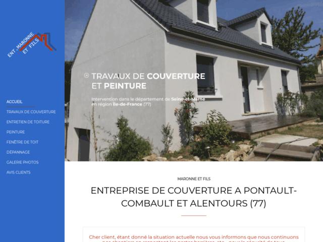 Couvreur-zingueur : Entreprise Maronne et Fils à Pontault-Combault (77)