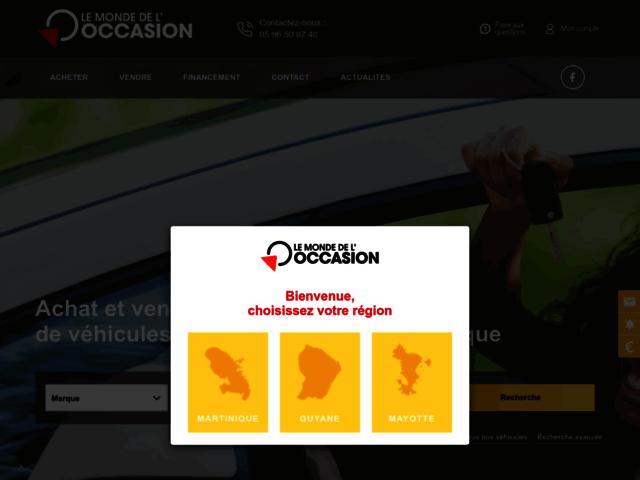 Vente voiture d'occasion Martinique - Le Monde de l'Occasion