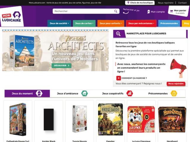 MonLudicaire.com : Marketplace spécialisé dans le jeu de société
