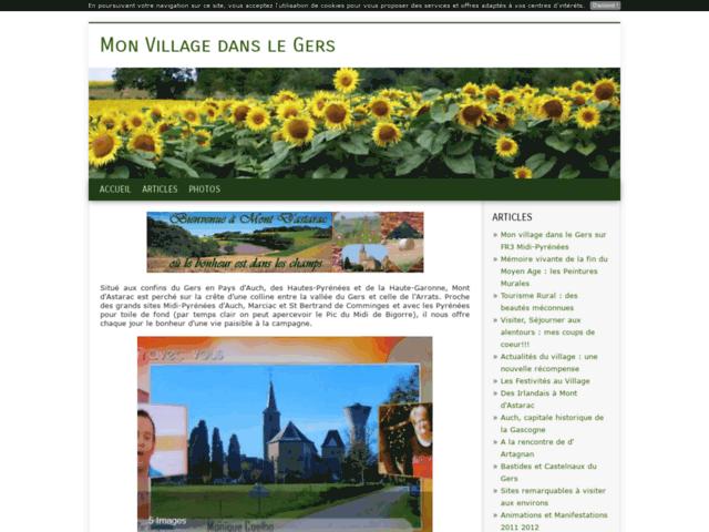 Mon Village dans le Gers : Mont d'Astarac