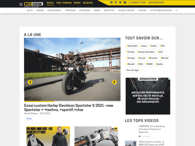 Capture d'écran du site motorevue.com