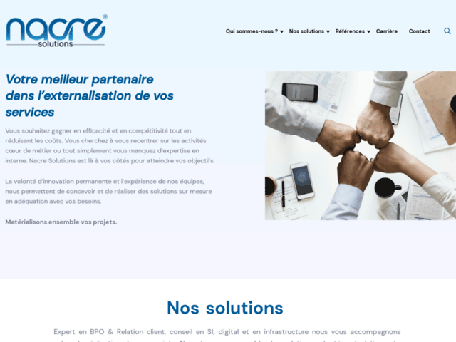 Nacre-solutions