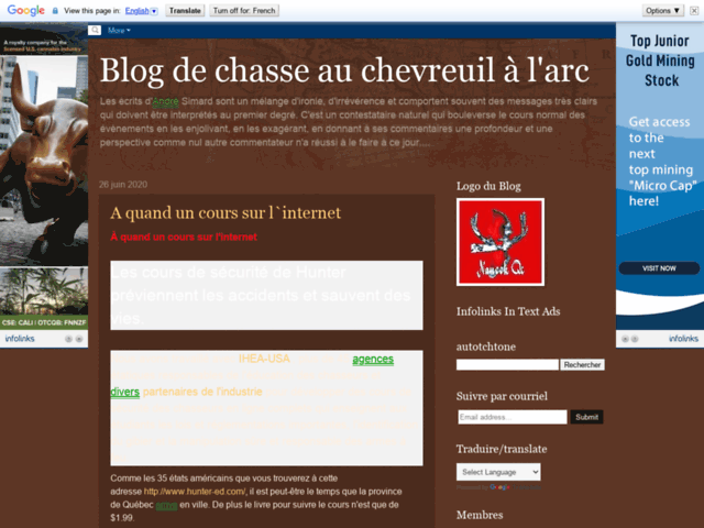 Blog de chasse au chevreuil à l'arc