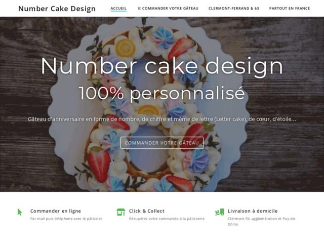 Number Cake design