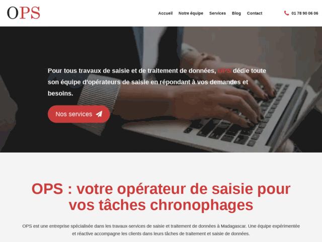 OPS, agence d'opérateur de saisie