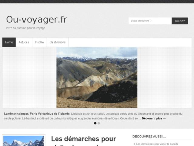 Ou-voyager.fr : Blog de voyage original