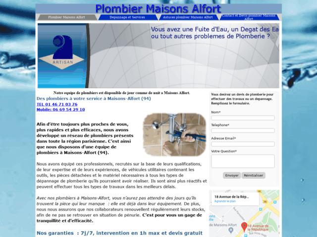 Plombier Maisons-Alfort