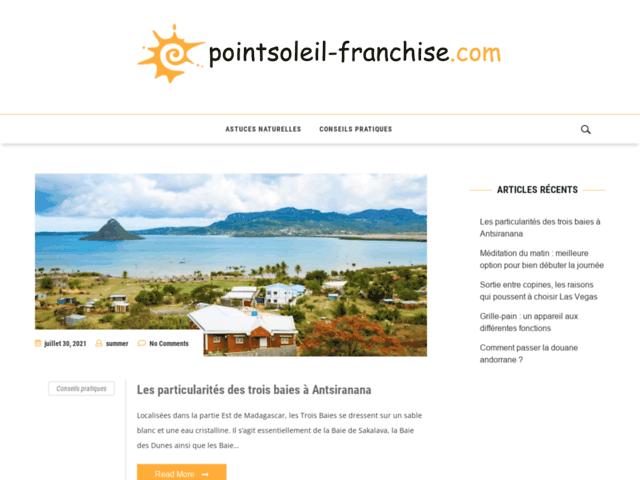 PointSoleil-Franchise : Franchise bien être