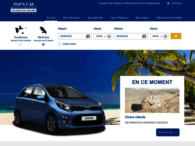 Location de voiture aéroport Guadeloupe - Popscar