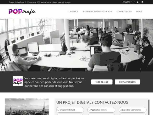 Agence digitale Paris | Poptrafic