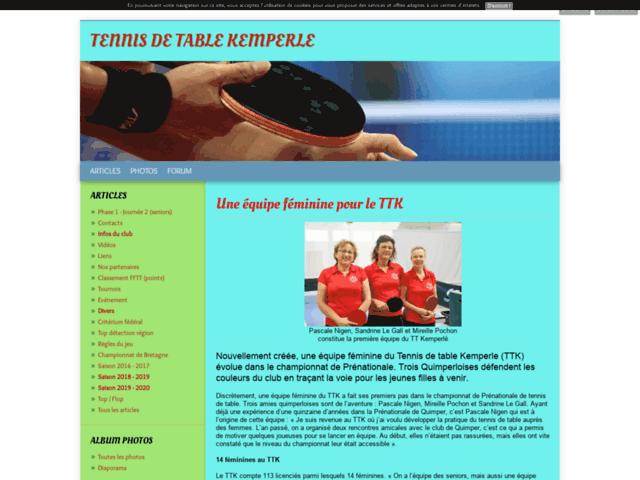 Quimperle Tennis de table