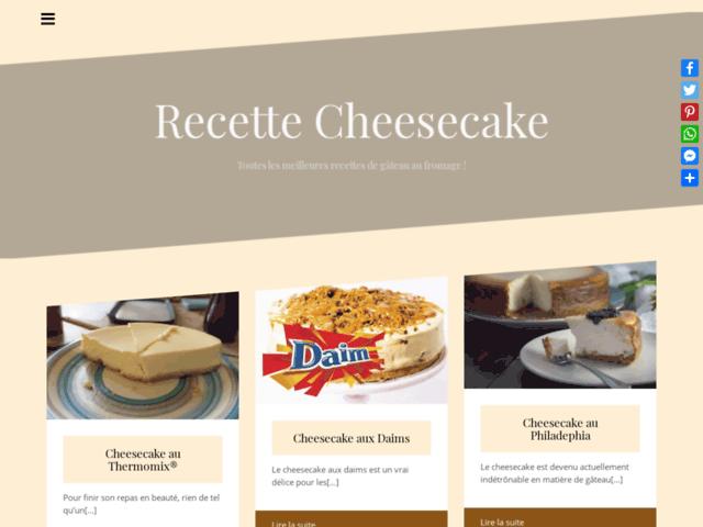 Recettes de gâteaux au fromage blanc