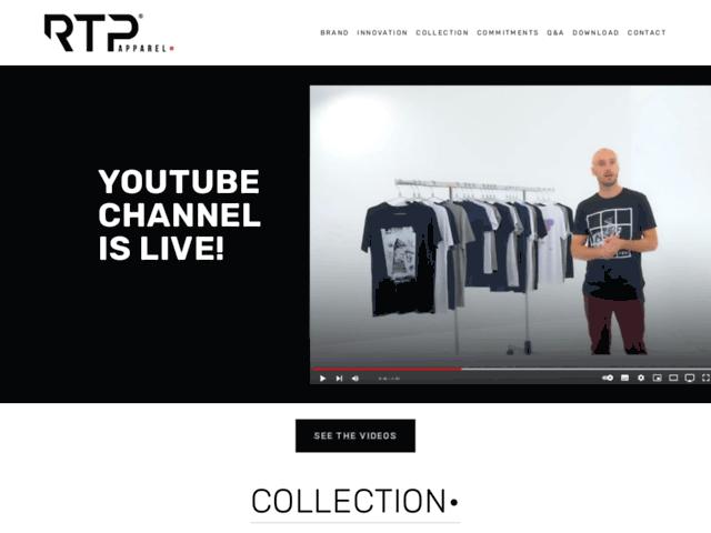 RTP Apparel - T shirt vierge coton bio