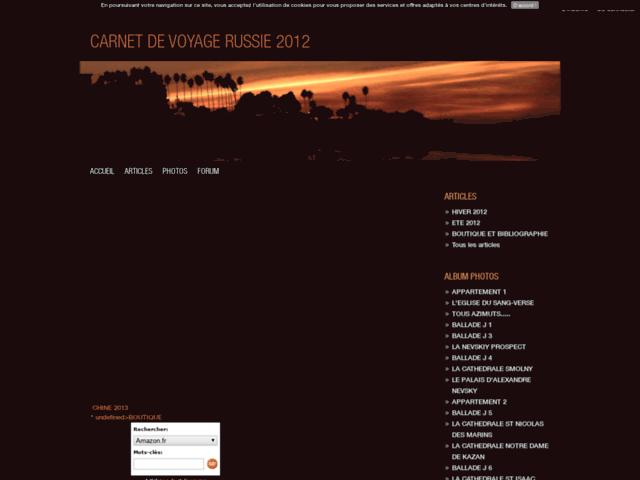Carnet de voyage russie 2012
