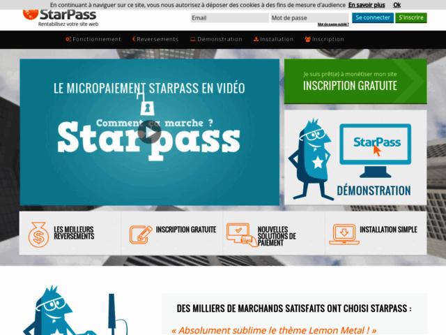 Micropaiement Starpass, paiement en ligne