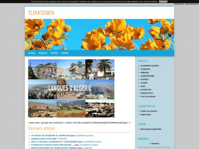 La langue algérienne de Tlemcen