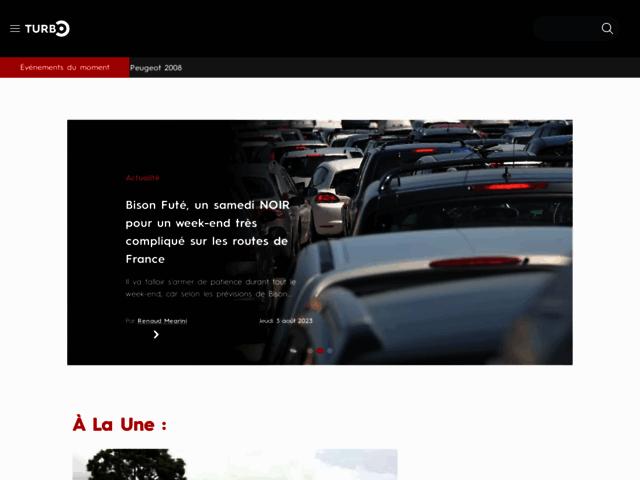 Capture d'écran du site turbo.fr