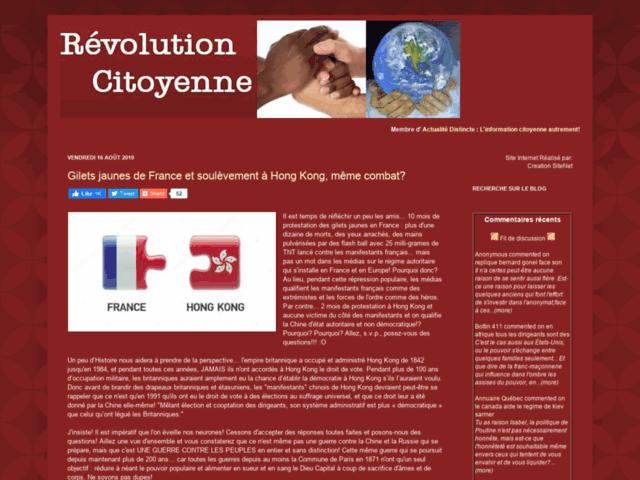 Union Révolte, citoyens anticapitalistes.