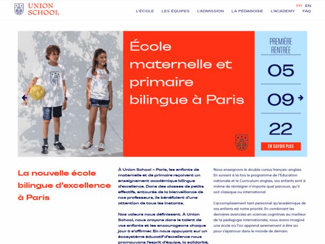 Union School - Ecole maternelle en anglais