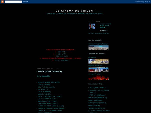 Le cinéma de Vincent