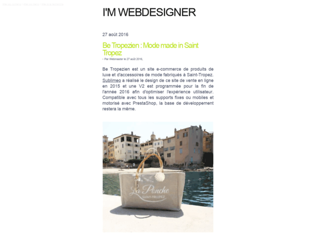 I'm Webdesigner