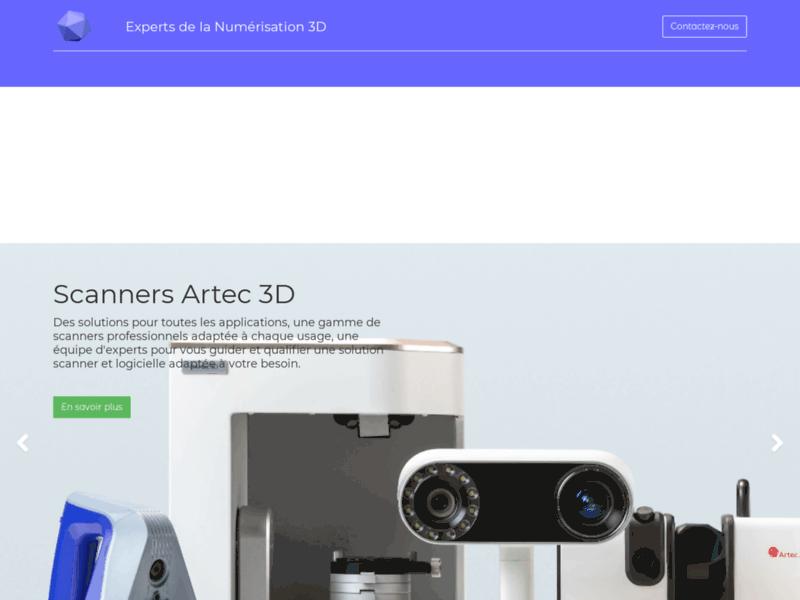 3D Numerisation - Spécialiste imprimante 3D, scanner 3D et logiciel 3D