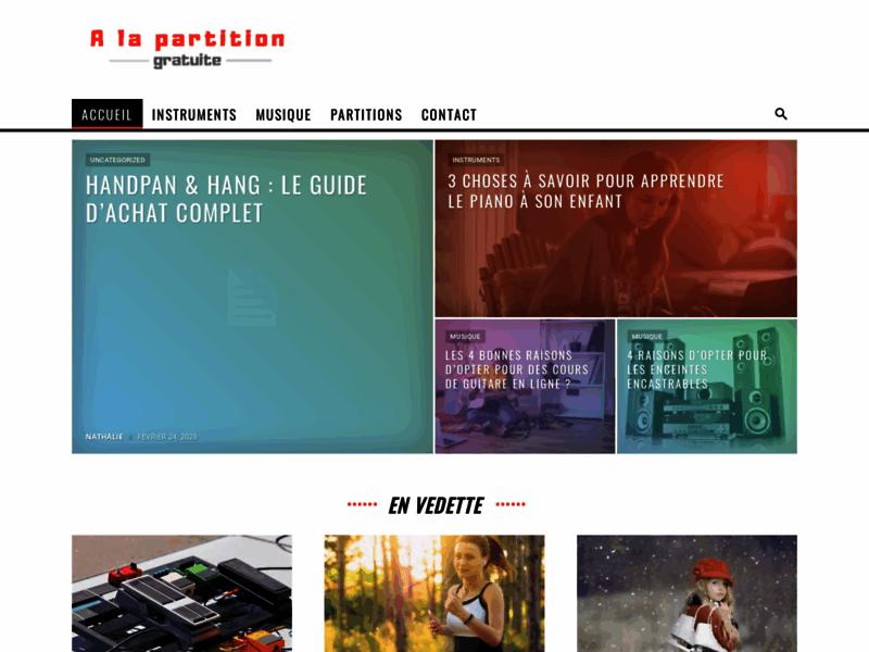 Partitions gratuites de piano et guitare