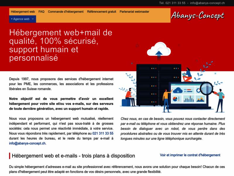 Hébergement internet, service professionnel