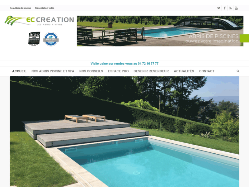 Referencement Google Chaponnay : Abris piscine