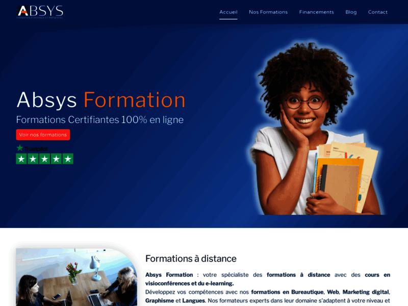 Absys Formation, formations certifiantes 100% en ligne