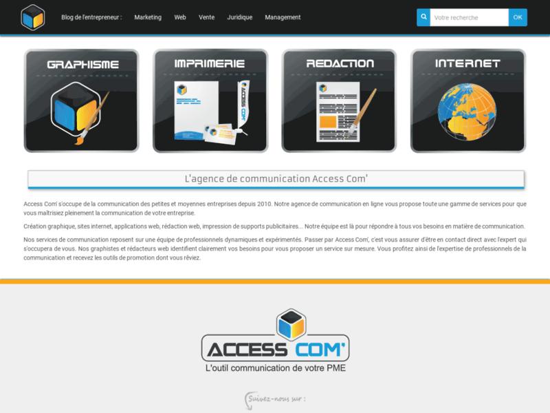 Access Com' : logo, charte graphique, site web, print ...