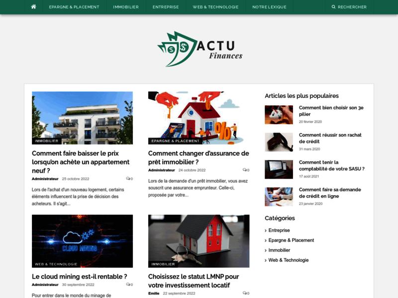 Actualité financiere