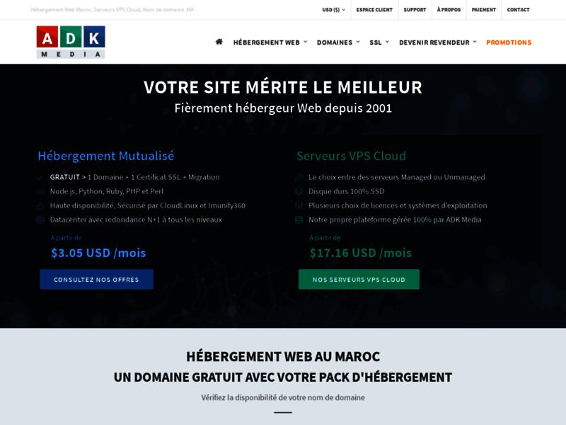 Adk media, hébergement web au Maroc