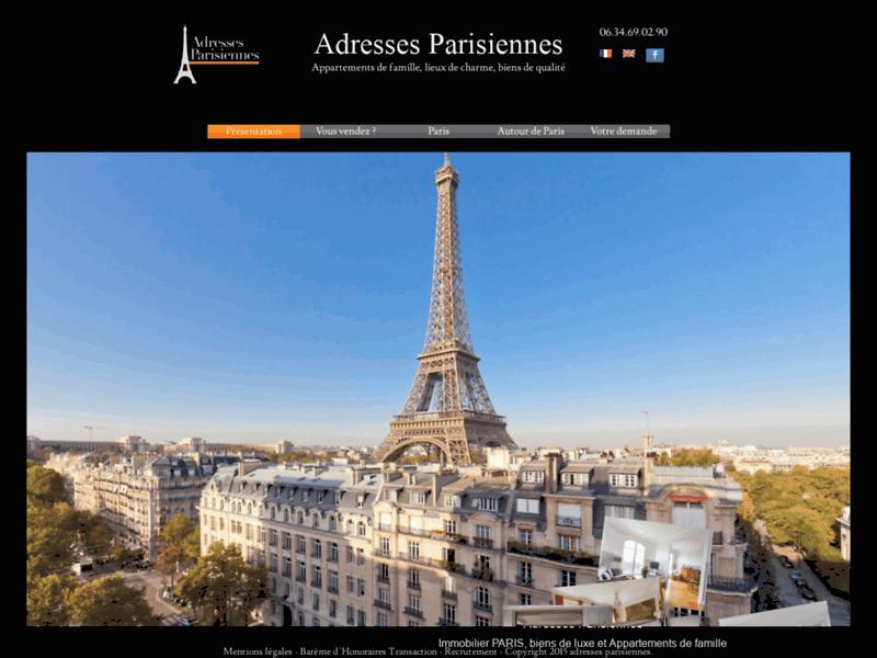 AdressesParisiennes - Vente Immo Parisiennes