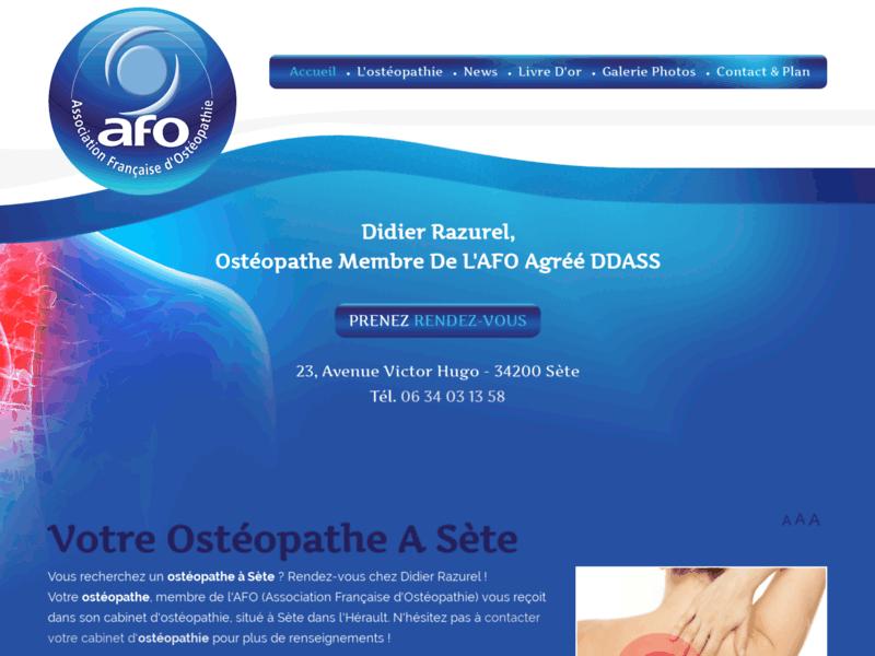 Ostéopathie générale, obstétrique, pédiatrique, du sport avec Didier Razurel