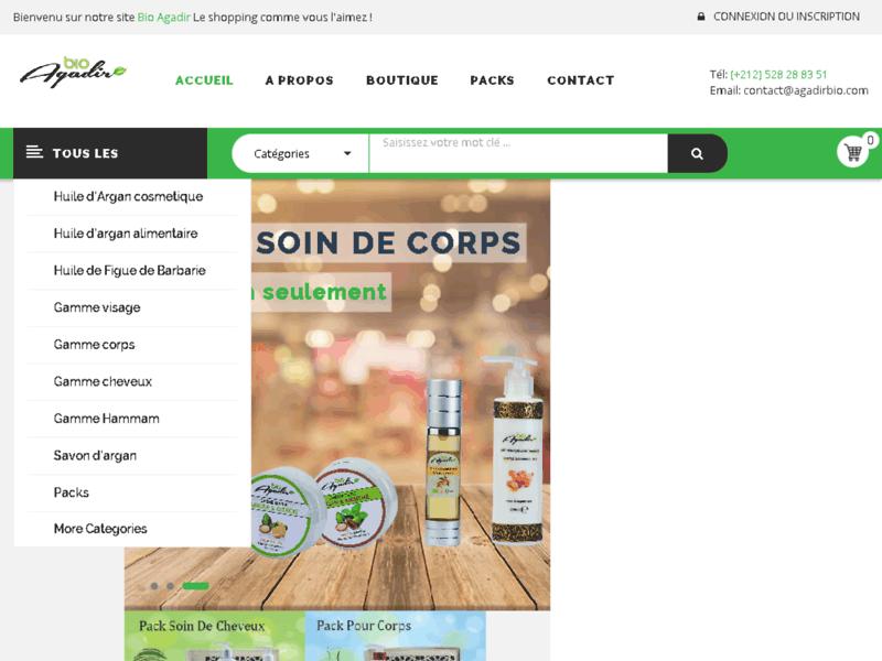 Agadir bio: produits cosmétiques d'argan Maroc