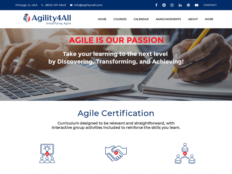 Website's screenshot : Best Agile Certification and Agile Training Compay