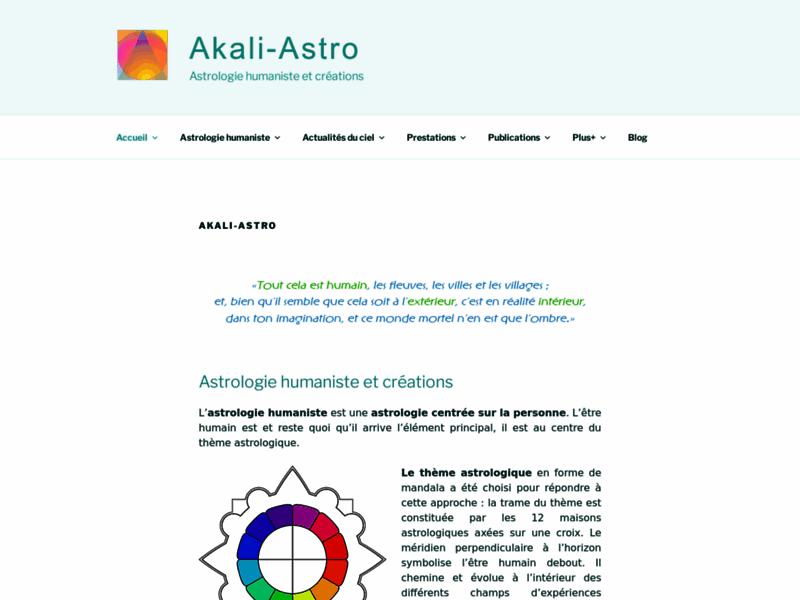 Akali astrologie humaniste et créations
