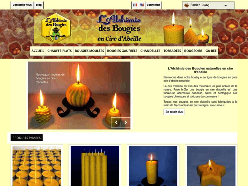L'Alchimie des Bougies, bougies naturelles en pure cire d'abeille
