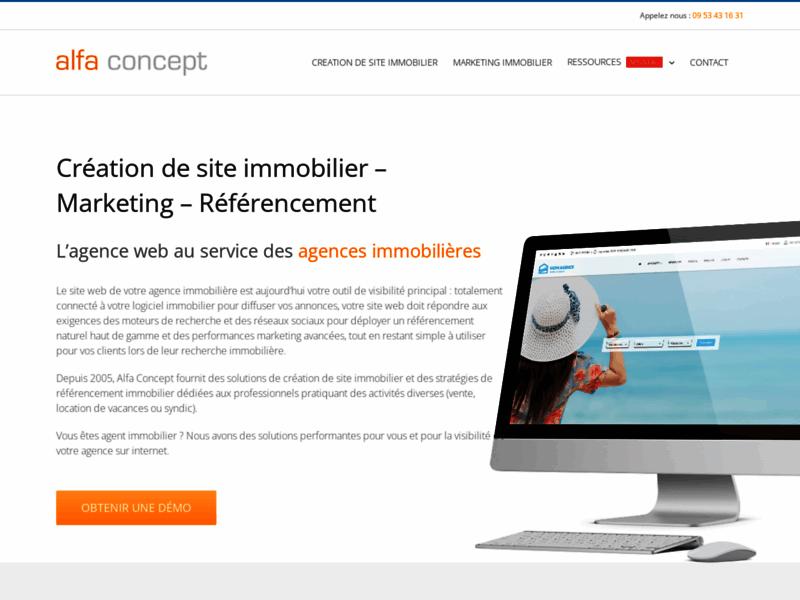 Alfa Concept - Solutions internet pour agences immobilières