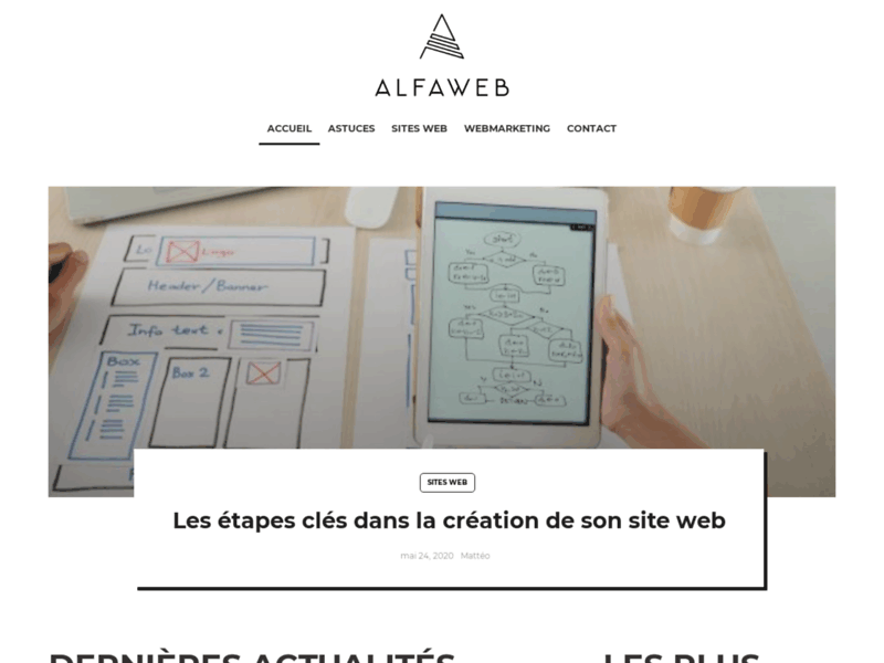 AlfaWeb, création de sites internet pro