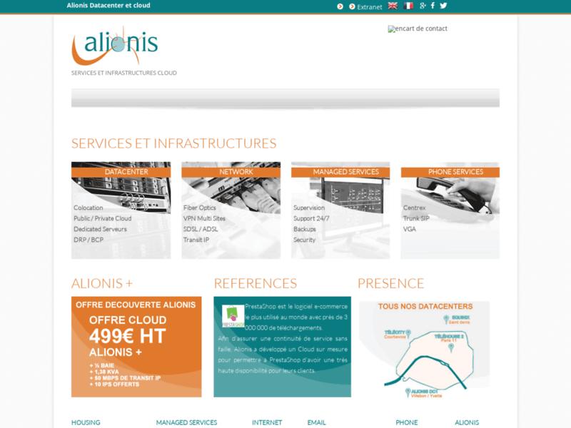 Site internet Alionis