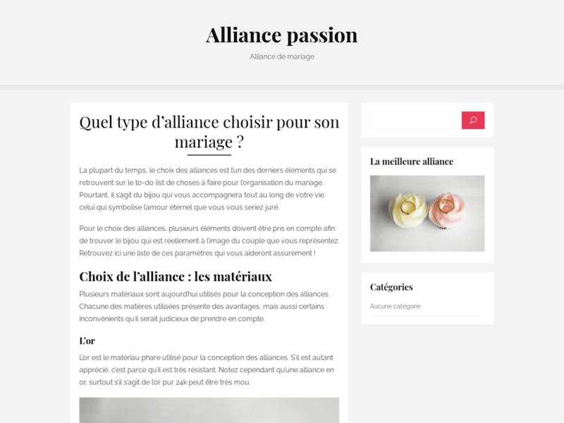 Alliance de mariage et bague de fiançailles chez Alliance Passion