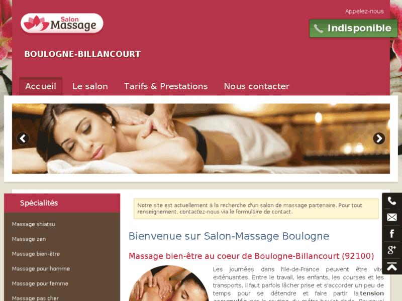 Massage femme Boulogne-Billancourt
