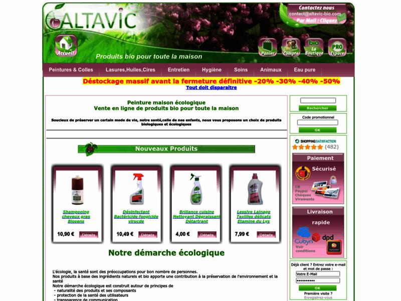 ALTAVIC-BIO: produits bio pour la maison