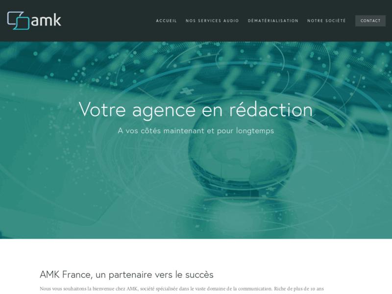 AMK France, transcription et retranscription fichier audio