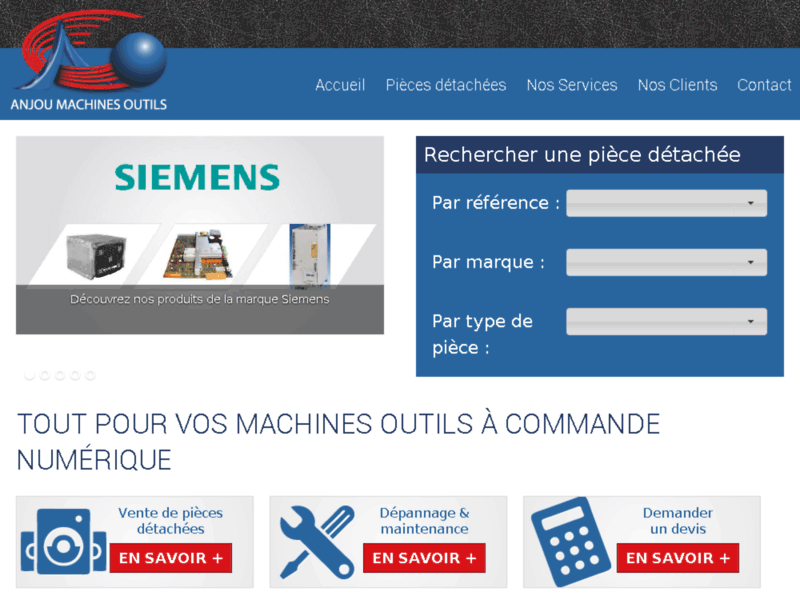 Anjou Machines Outils, maintenance de machine outil