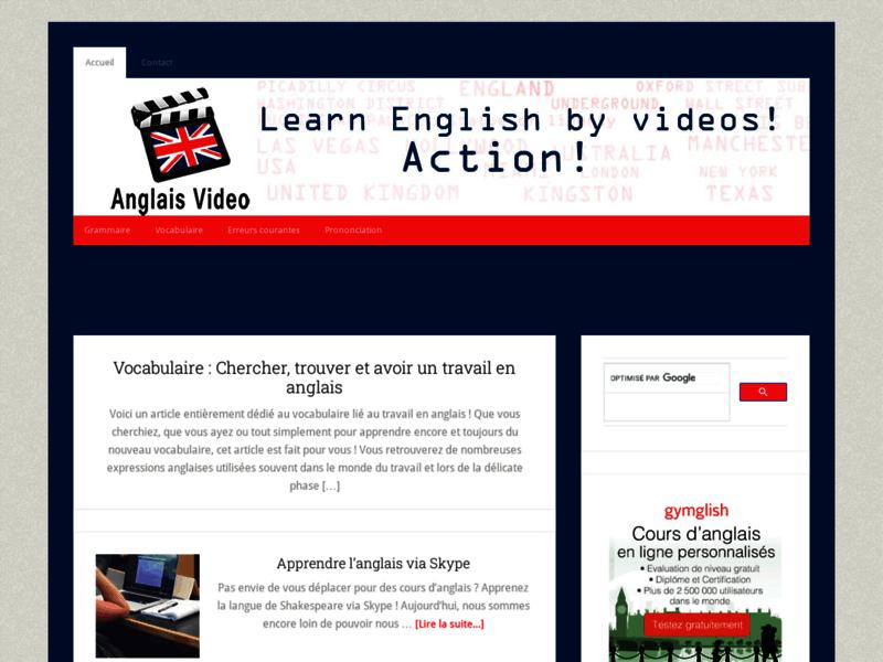 Apprendre l'anglais en vidéo