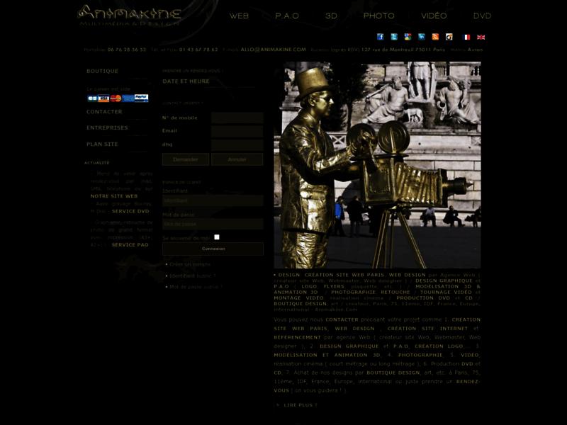 Création site Web, design graphique, 3d, photo, vidéo, DVD, boutique